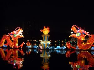 chinese festivals with floating dragons