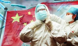 doctor in protective gear in china