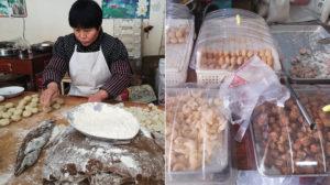 woman working in sweet shop