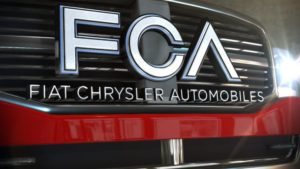 fiat chrysler logo on a car