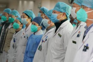 line of medical staff