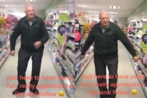 two images from tijtok videos of uk grandpa