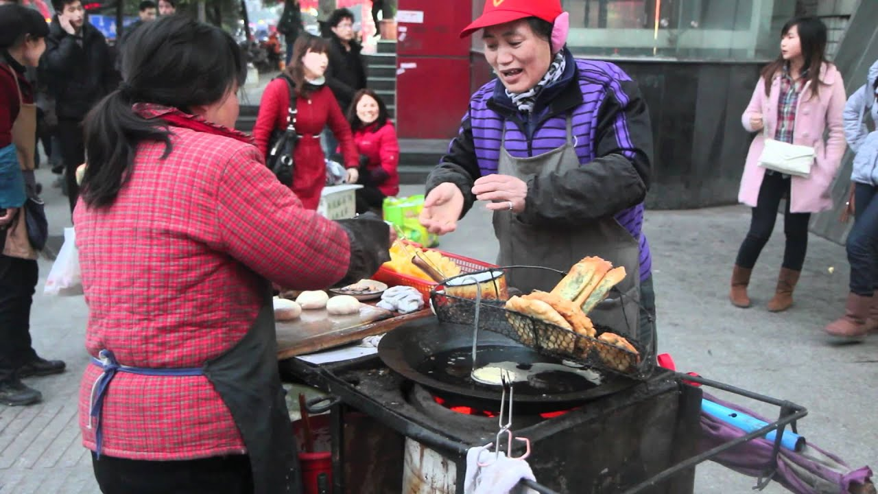 street vendor selling food in china