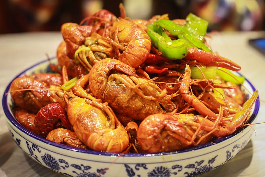 plate of crayfish in china