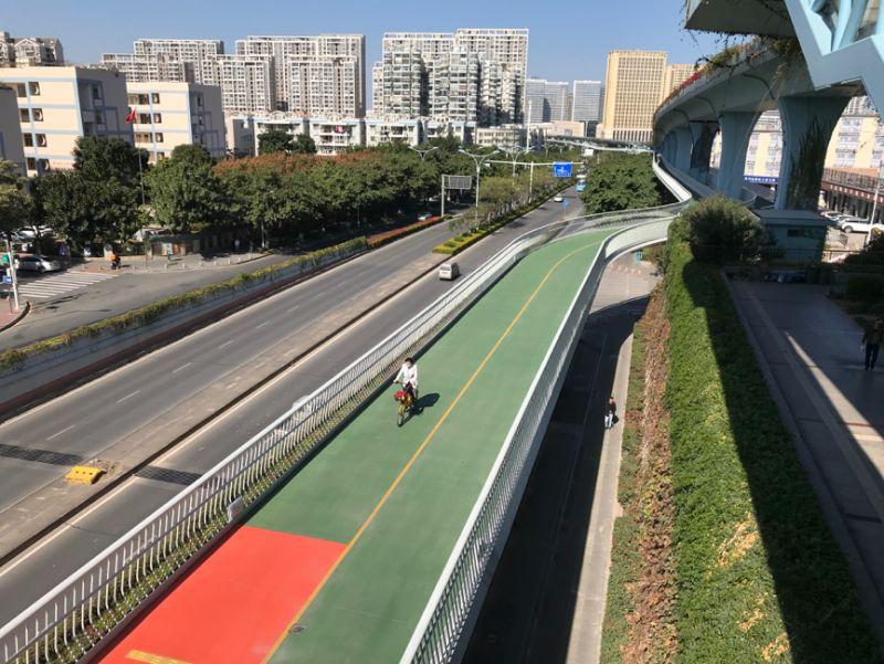 北京第一条自行车专用路开通一年