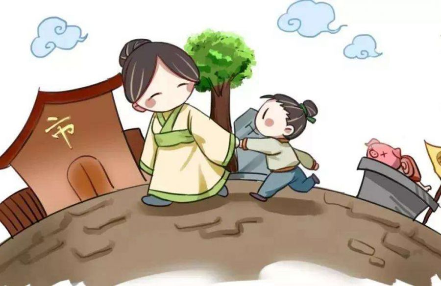 Mencius' Mother leading him to different housing locations