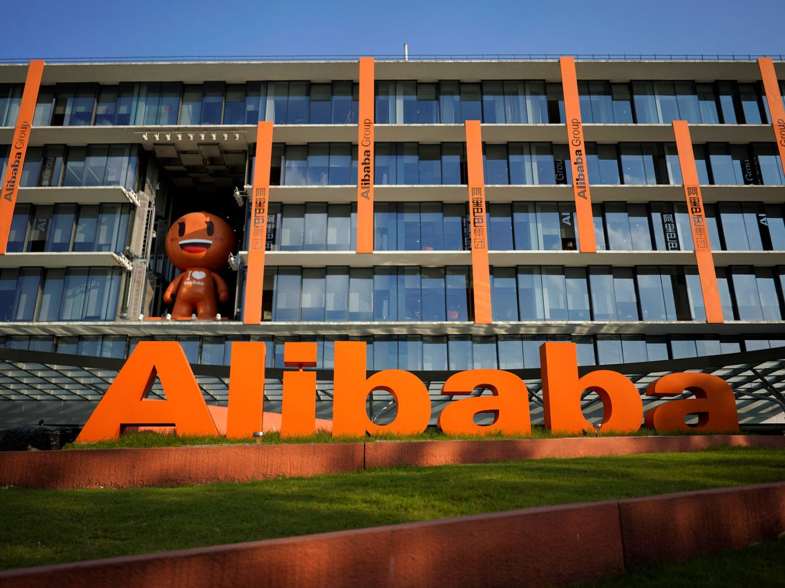 alibaba sign outside building