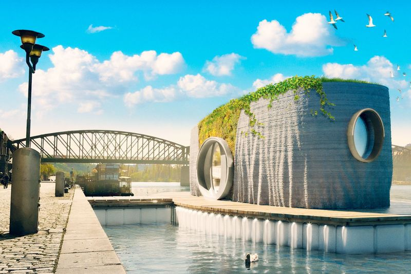 design for 3d printed floating house