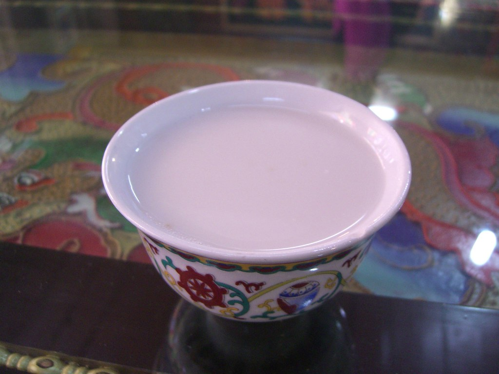 bowl of butter tea on table
