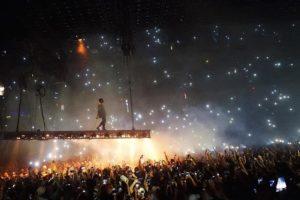 singer and fans at concert