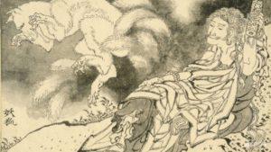 painting by japanese artist Hokusai