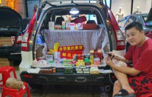 car boot street vendor in china
