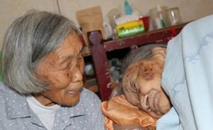 elderly woman and mother-in-law together in china