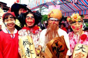 people celebrating ghost festival in taiwan