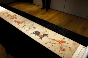 five drunken princes scroll on display