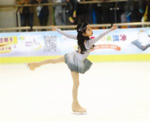 young girl figure skating in china