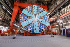 super shield tunnel boring machine in shanghai