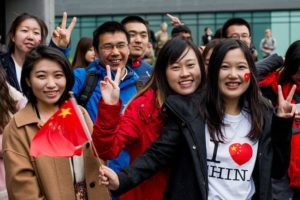 group of chinese overseas students