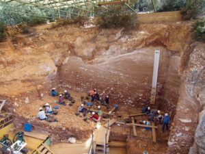 workers at Atapuerca site in Spain