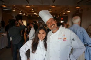 two chefs posing for picture at event