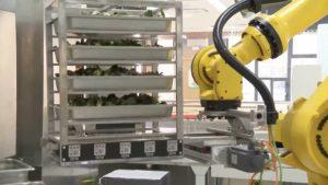 robot working in shanghai school kitchen