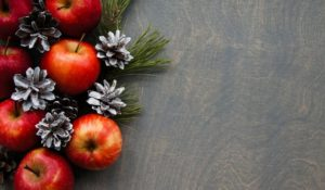 apples decorated for christmas