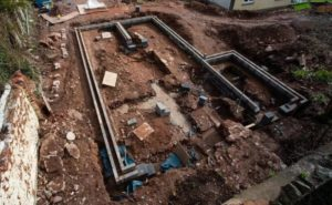 top view of palace remains discovered in the UK