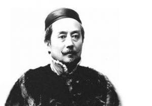 black and white photo of gu hongming