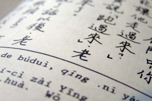 page from chinese language textbook