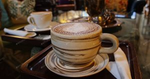 cup of coffee at cafe in shanghai