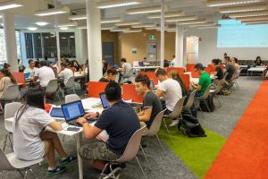 students in study room at university in australia