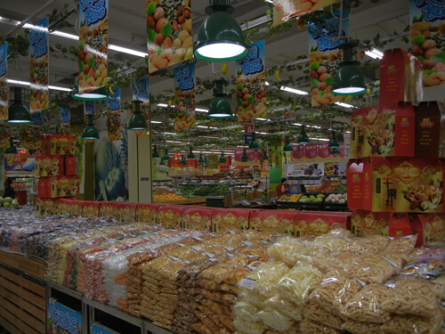 snacks section of supermarket in china