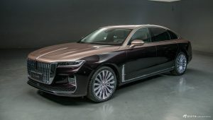 front and side view of hongqi H9 car