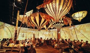 dining area in hot air balloon event in shinaghai
