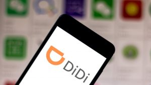 didi logo on mobile phone screen